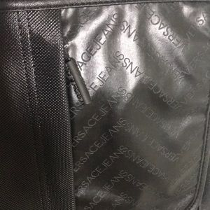 315277f226c9 Versace Jeans Collection Bags - NWT Black Leather VERSACE Messenger Bag